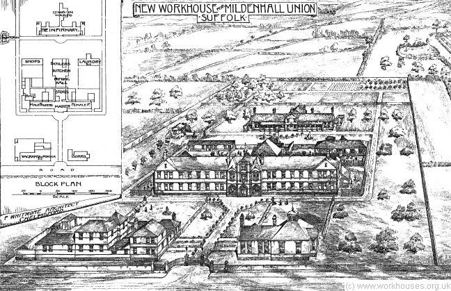Mildenhall England Map.The Workhouse In Mildenhall Suffolk